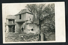 C1918 WWI: View of War Damage to Homes in France. Location Unknown.