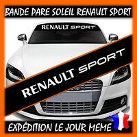 Lettrage Pare soleil Renault Sport - Sticker autocollant mégane clio twingo