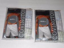 Covington Men's Woven Check Pattern Boxer Shorts S/28-30 X 6 NWT