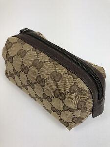 Gucci GG canvas monogram cosmetic bag