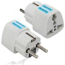 New Portable UK US AU to EU European Power Socket Plug Adapter Travel Converter