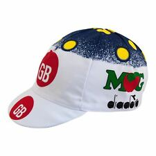NEW GB MG Retro Pro Team Vintage Classic Cycling Cap - Made in Italy