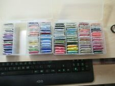 LOT OF 109 DMC EMBROIDERY FLOSS IN 2 DARICE PLASTIC CASES
