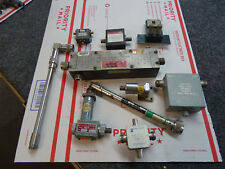 10 Rf Microwave Attenuator Lot Hp 764D P421A Narda 560 Bruno 943-C Amlabs