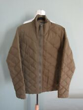 NAU olive green quilted goose down feather fill jacket L