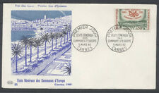 FRANCE FDC - 1244 1 COMMUNES D'EUROPE - CANNES 5 Mars 1960 - LUXE