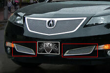 2PC FINE MESH LOWER BRAKE DUCT INSERTS E&G FITS 2012 2013 2014 ACURA TL