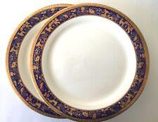 Zepter International Porcelain Dinner Plate Cobalt Blue Gold Animals Zoo Pattern