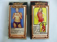 1970s Doc Johnson Ecstasy Lingerie.Two Items Unused in Original Packaging A