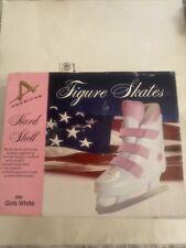 New listing American Athletic Model 390 Girls White/pink Figure Skates Size 3 Nib