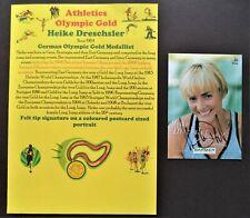 DRECHSLER HEIKE GERMANY LONG JUMP OLYMPIC GOLD MEDAL 1992 2000 SIGNED PROMOPHOTO