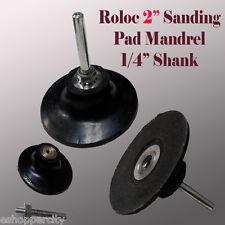 """2"""" Roll Lock Roloc Type Sanding Polishing Disc Mandrel Arbor Holder Type R"""