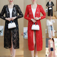 Women Lace Sunproof Long Sleeve Top Outwear Coat Daily Cardigan Sun Shirt Blouse