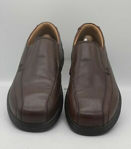 Mens PAVERS Size 11 UK 45 EU Brown Leather Casual Loafers/Shoes Slip On In E U C