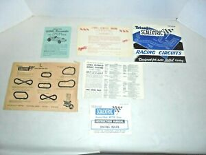 LIONEL SCALEXTRIC ENVELOPE WITH ORIGINAL PAPERWORK TRI-ANG SLOT CARS