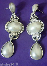 STUNNING AFTER 5 PEARL EARRINGS  RED HAT SOCIETY