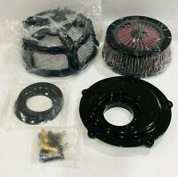 Kuryakyn Black Mach 2 Co-Ax Air Cleaner Assembly For Custom Applications 9572