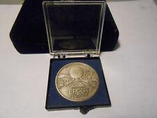 1982 Walt Disney World EPCOT CENTER Pewter Coin Medallion in Display /Holder BOX