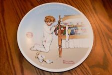 Norman Rockwell Christmas Collection Series Plate 1990 A Christmas Prayer in box