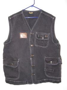 Vintage Karl Kani 1990s 90s Hip Hop Black Jean Denim Safari Vest Men's L