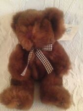 Russ Bears From The Past Piccadilly Teddy Brown Plaid Ribbon Plush Stuffed W/Tag