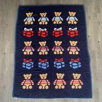 Vintage Crown Crafts by Dinarsu Bed Throw Multicolor Teddy Bear Blanket 60 x 80