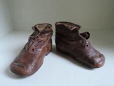 Schuhe,Stiefel,Kinderschuhe oder Puppenschuhe,Leder,braun,antik