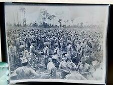 INCREDIBLE photo negative GEORGE PATTON MEETING TROOPS large 8 x 10 inch DDAY?