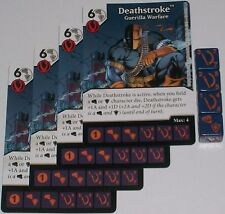 4 x DEATHSTROKE: GUERILLA WARFARE 12 Green Arrow and The Flash Dice Masters