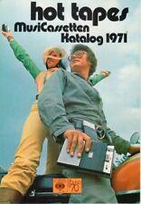 HOT TAPES - MusiCassetten Katalog 1971 - The Music Company Prospekt - B11403