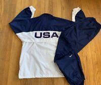 Vintage 90's Nike Team USA Olympic Track Suit Mens XXL Mint Rare