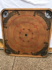 Vintage Carrom Game Board And Game Pieces, Style QS, See Photos For Pieces