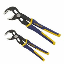 IRWIN Quick Adjusting GrooveLock VISE-GRIP 2-Pack Groove Joint Plier Set NonSlip
