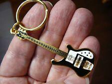 (M-311-D) Pick 1 of 6 colors RICKENBACKER Bass Guitar KEYCHAIN 24k goldplated