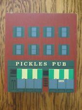 1992 Cat's Meow Village Pickles Pub Series X Retired Shelf Sitter