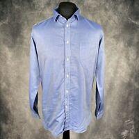 "UNIVERSAL WORKS Light Blue Faded Shirt Long Sleeve Medium PTP 21"""