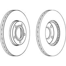 2x Bremsscheibe DDF1014 282mm vorne f. VW PASSAT 3B2 3B5 3B3 Variant 3B6 1.6