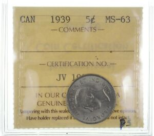 1939 Canada 5 Cents *2505