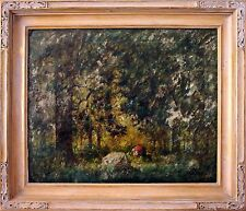 19th Century European School Oil Painting of a Lush Forest by Herman Niemeier