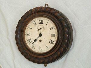 English Smiths Empire 264 Oak Rope Ships School Marine Wall Clock Repair Spares