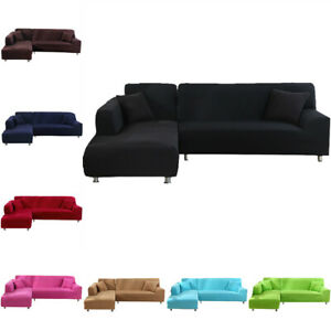 1/2/3/4 Seater Sofa Covers Slipcover Stretch Couch Cover Tight Wrap L Shape Buy2