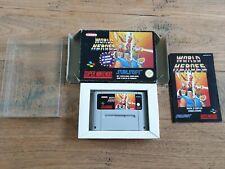 World Heroes FAH Super Nintendo SNES Complete CIB Boxed PAL