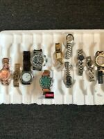 Assorted LOT of 11 Watches Citizen Timex Invicta ESQ by Movado etc. Men's Women