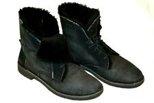 Women's Black Fur Lined UGG Boots sz.8.5 1012359