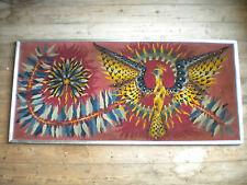 1970s Modern art tapestry atomic Firebird 113 x 50 cms