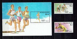 Briefmarken Olympische Spiele 1988 Belgien