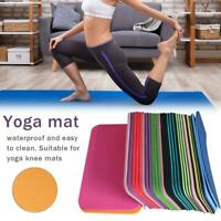 "Yoga Knee Pad Cushion (15x8"") Anti-Slip 6mm Thick Workout Exercise Travel Mat"