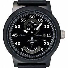 Retro-Design Uhr PILOT 24H+Powerreserve Anzeige A1357