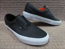 "Vans Men's Shoes ""Era"" -- (Perf Leather) Black"