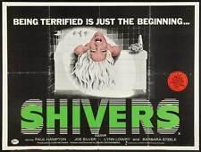 SHIVERS Movie POSTER 27x40 UK Paul Hampton Joe Silver Lynn Lowry Allan Kolman